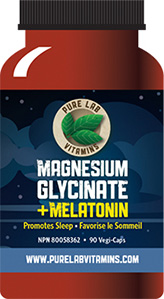 Magnesium Glycinate plus Melatonin - Natural Health Product